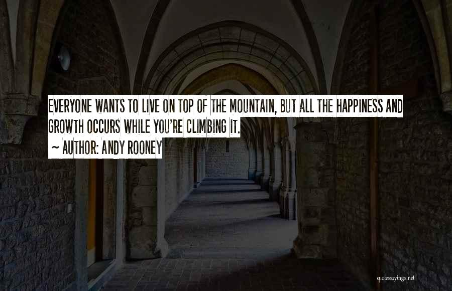 Climbing To The Top Of The Mountain Quotes By Andy Rooney