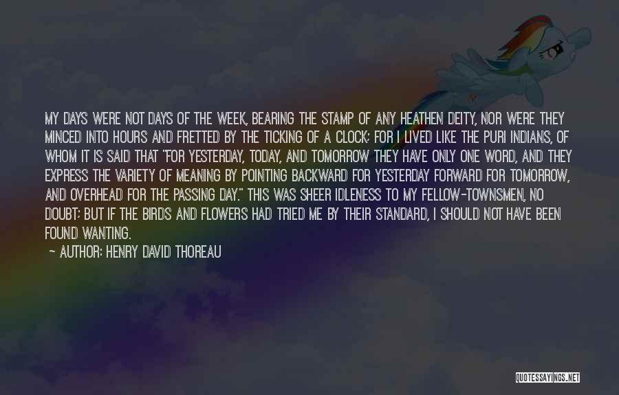 Clock Ticking Quotes By Henry David Thoreau