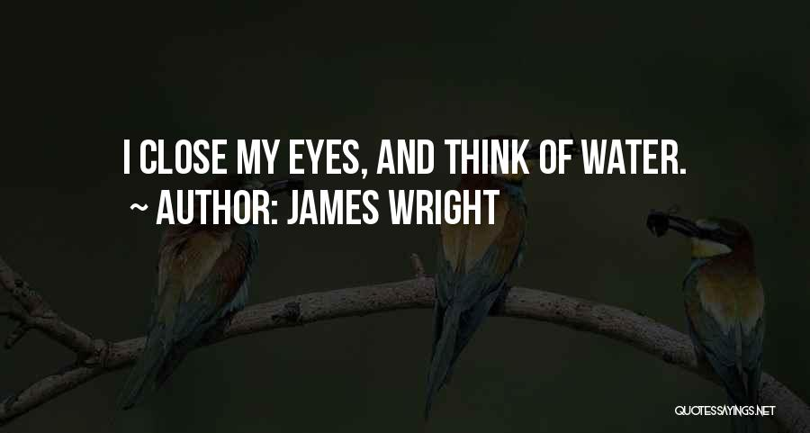 Close My Eye Quotes By James Wright