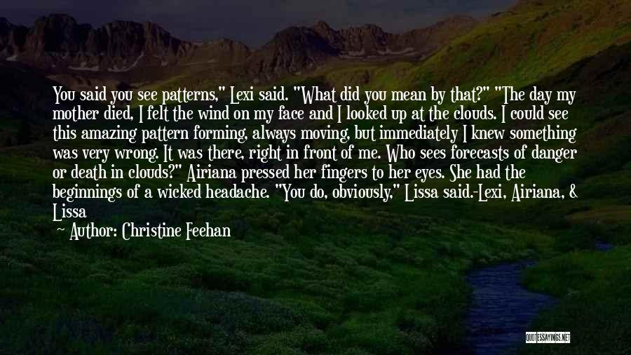 Clouds And Death Quotes By Christine Feehan