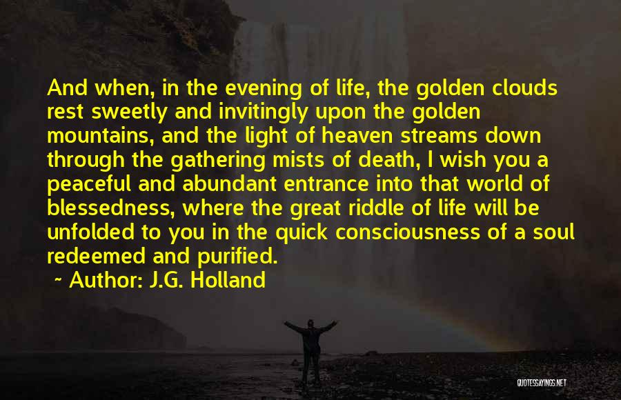 Clouds And Death Quotes By J.G. Holland