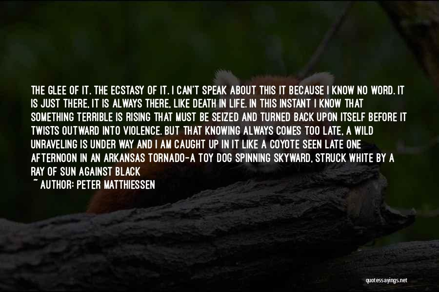 Clouds And Death Quotes By Peter Matthiessen