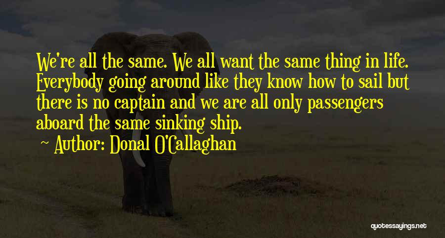 Co Captain Quotes By Donal O'Callaghan