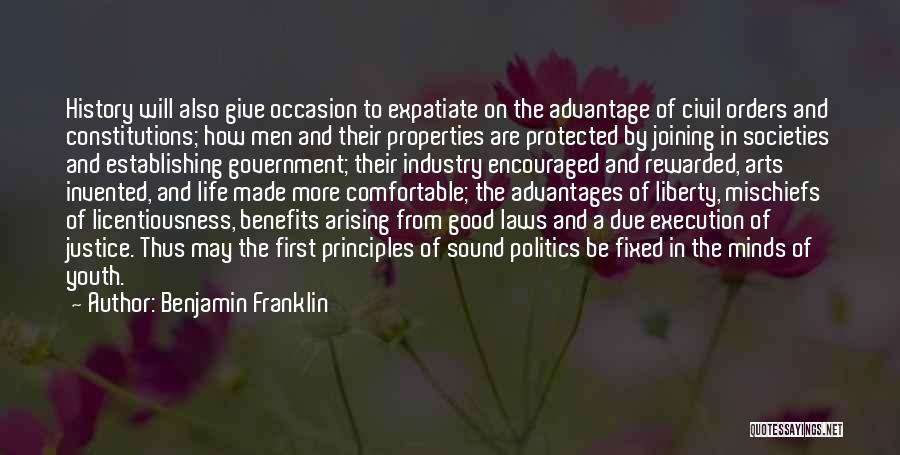 Co Education Advantages Quotes By Benjamin Franklin