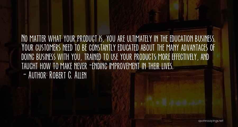 Co Education Advantages Quotes By Robert G. Allen