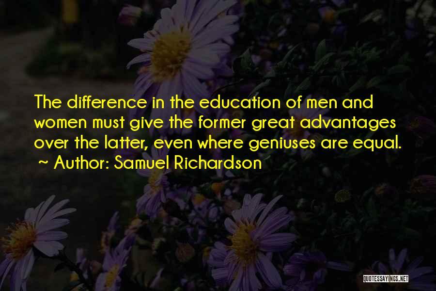 Co Education Advantages Quotes By Samuel Richardson