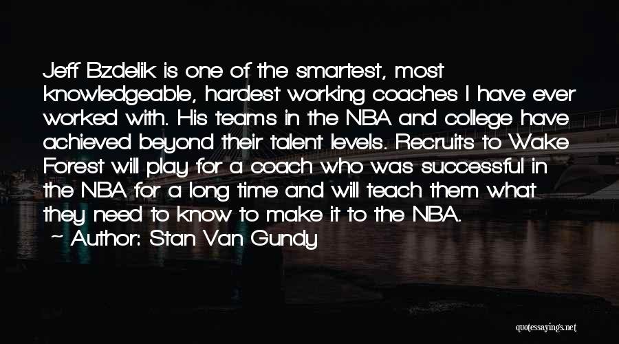 Coach Gundy Quotes By Stan Van Gundy