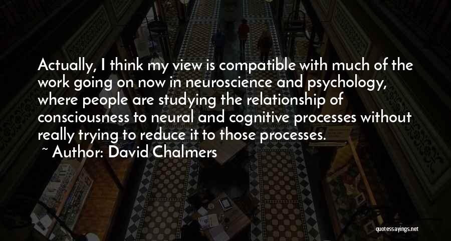 Cognitive Neuroscience Quotes By David Chalmers