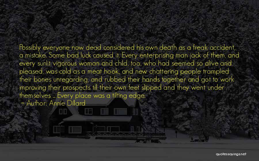 Cold Man Quotes By Annie Dillard
