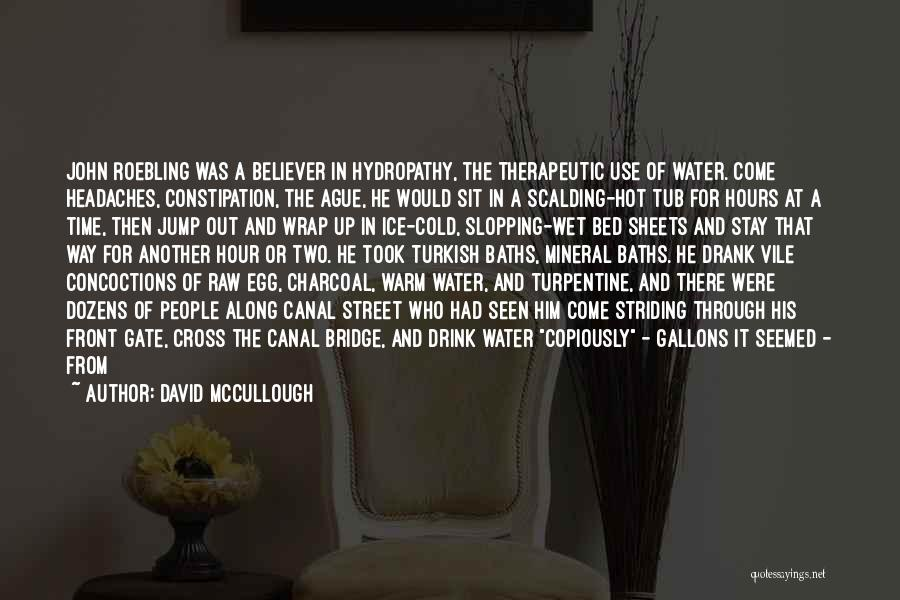 Cold Water Bath Quotes By David McCullough