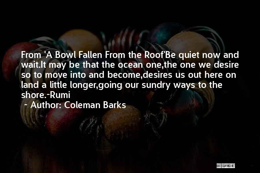 Coleman Barks Quotes 2132864