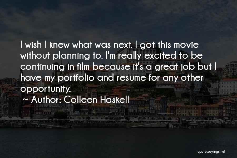 Colleen Haskell Quotes 1490330