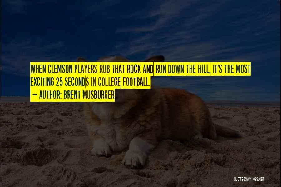 College Football Players Quotes By Brent Musburger