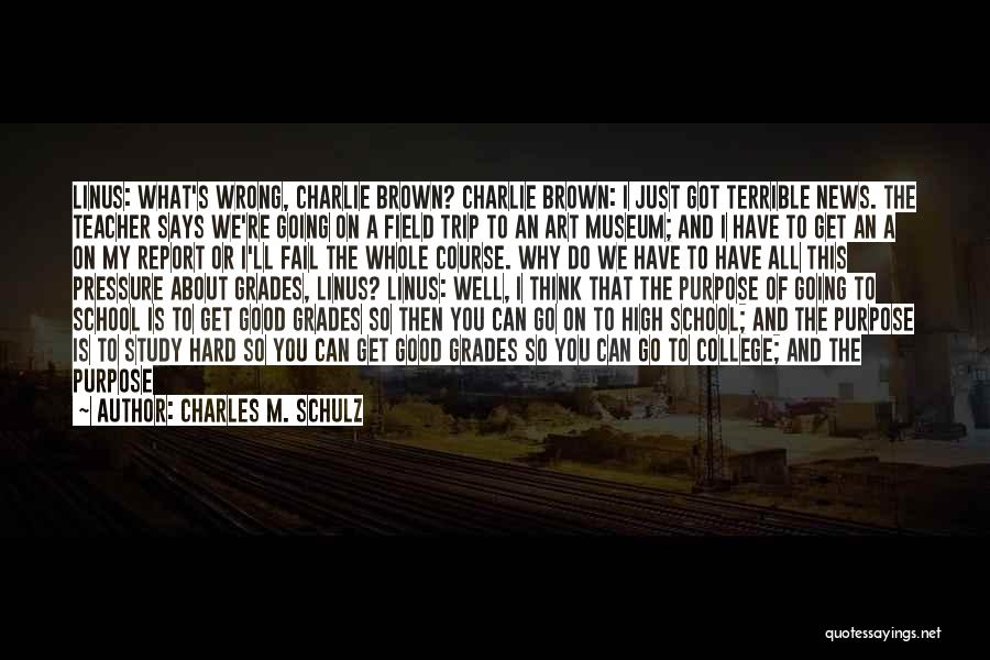 College Grades Quotes By Charles M. Schulz
