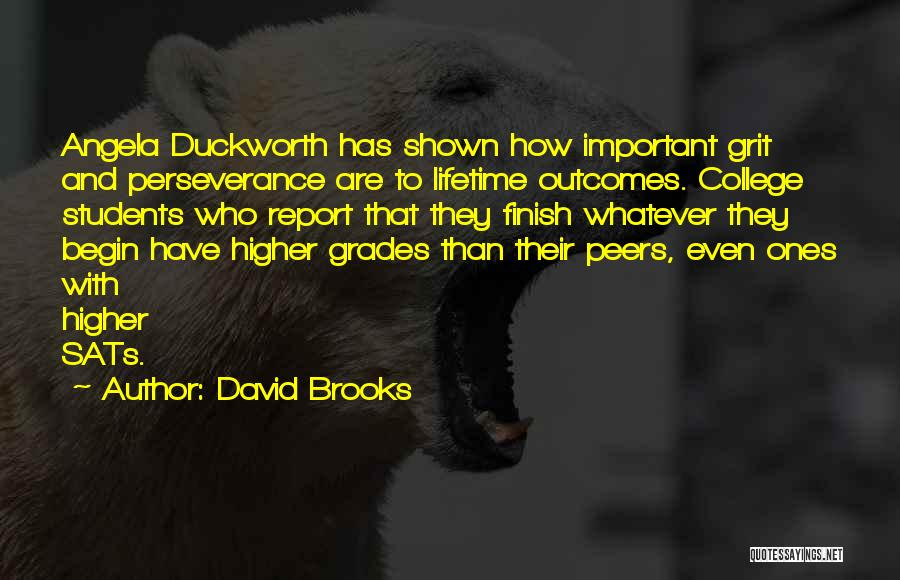 College Grades Quotes By David Brooks