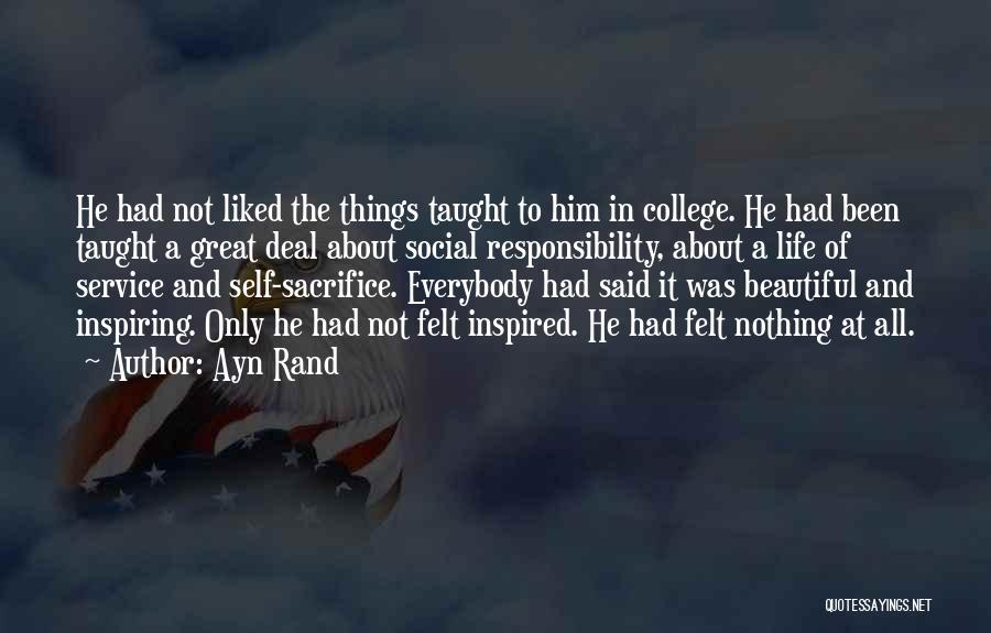 College Inspiring Quotes By Ayn Rand