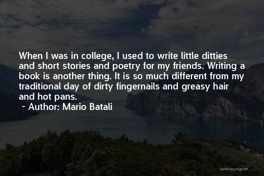 College Quotes By Mario Batali