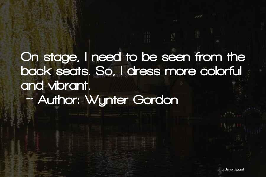 Colorful Dress Quotes By Wynter Gordon