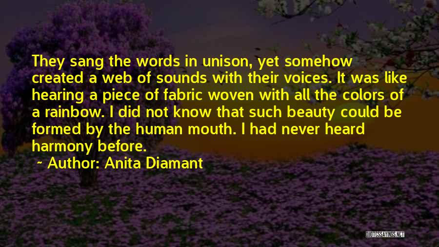 Colors Of The Rainbow Quotes By Anita Diamant