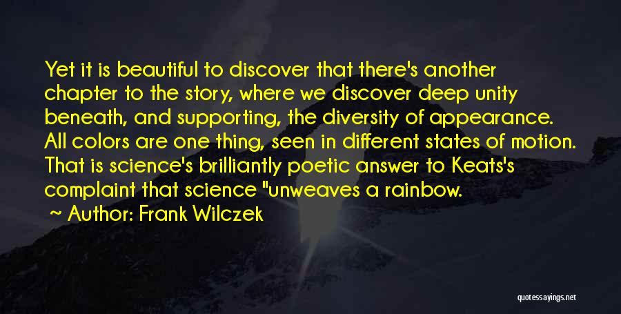Colors Of The Rainbow Quotes By Frank Wilczek