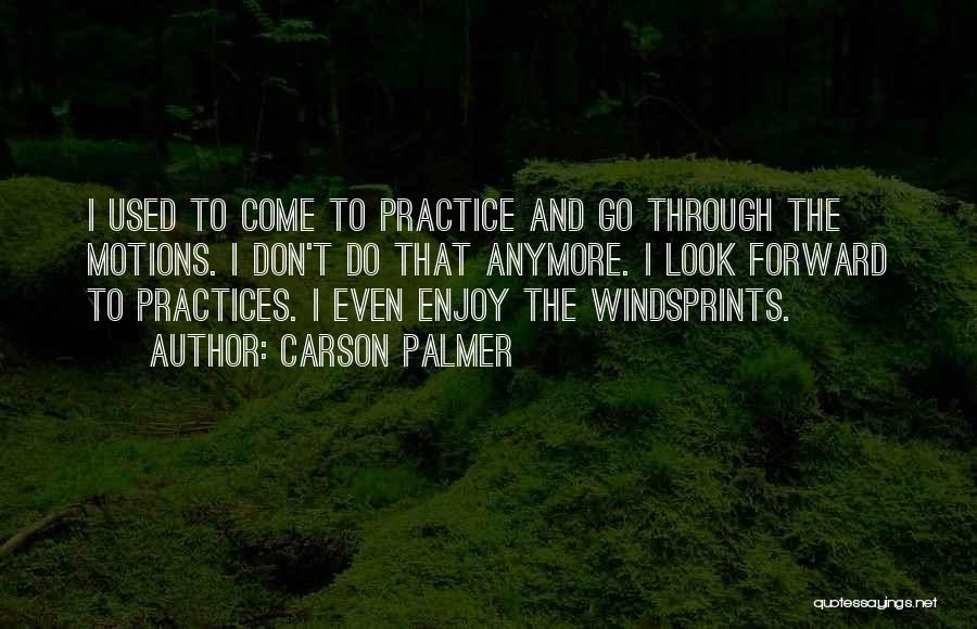 Come And Enjoy Quotes By Carson Palmer