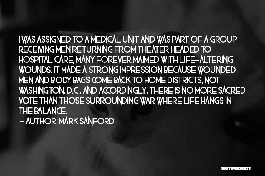 Come Back Home Quotes By Mark Sanford