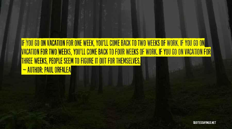 Come Back To Work Quotes By Paul Orfalea