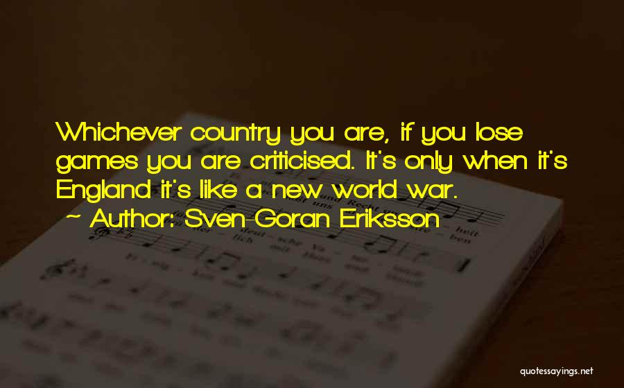 Come On England Football Quotes By Sven-Goran Eriksson