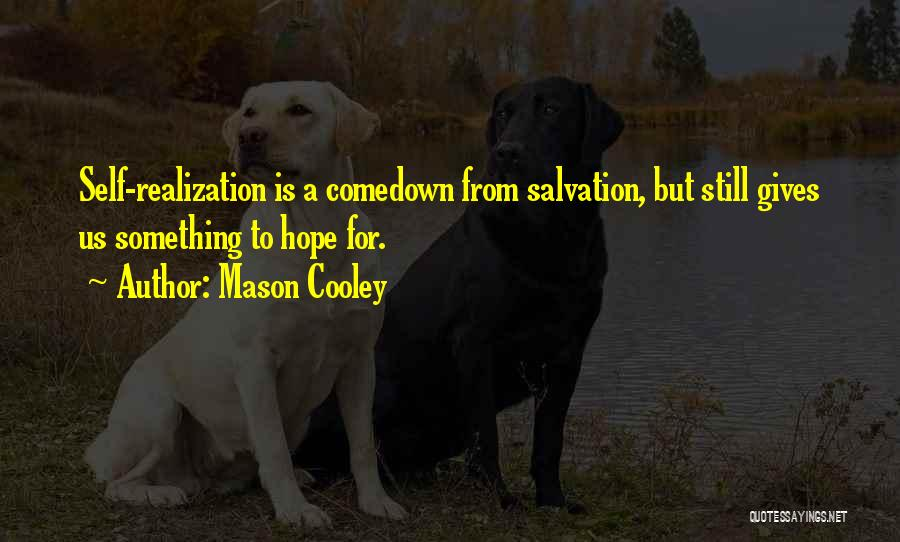 Comedown Quotes By Mason Cooley