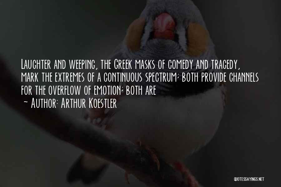 Comedy Tragedy Masks Quotes By Arthur Koestler