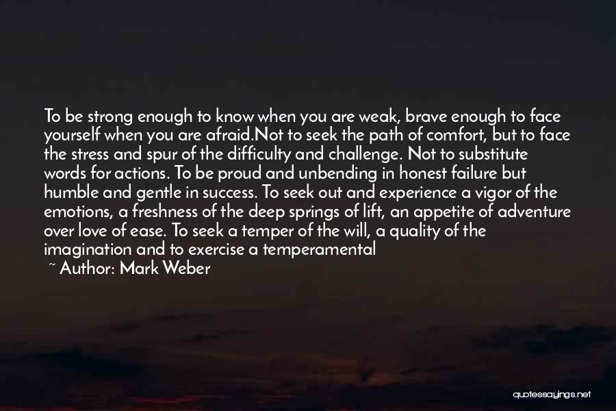 Comfort And Success Quotes By Mark Weber