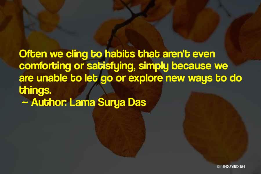 Comforting Yourself Quotes By Lama Surya Das