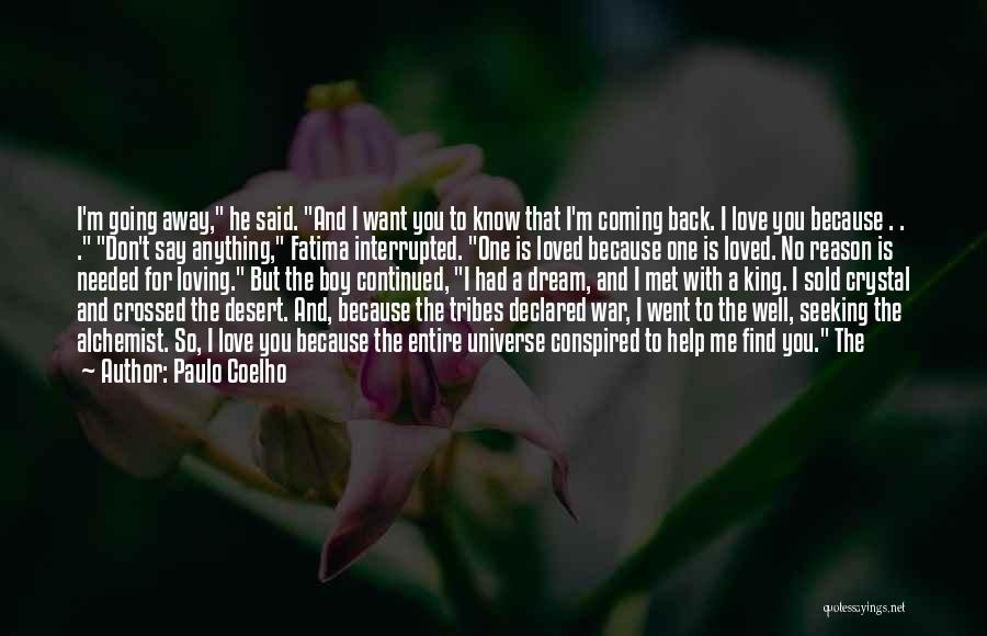 Coming Back To Love Quotes By Paulo Coelho