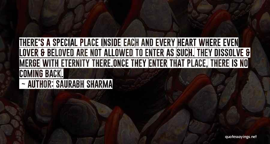 Coming Back To Love Quotes By Saurabh Sharma