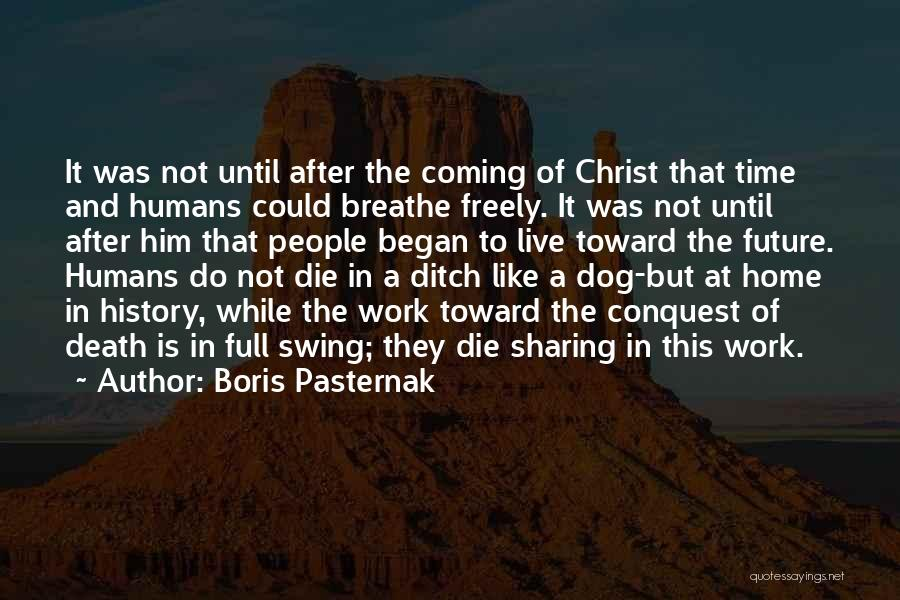 Coming Home To Your Dog Quotes By Boris Pasternak