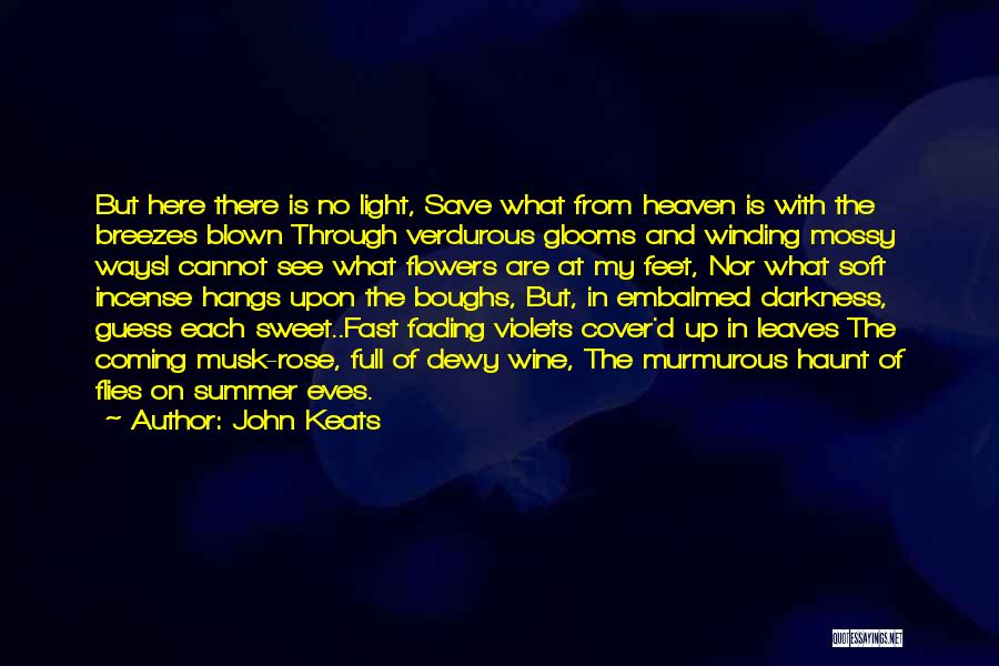 Coming Out Of The Darkness Into The Light Quotes By John Keats