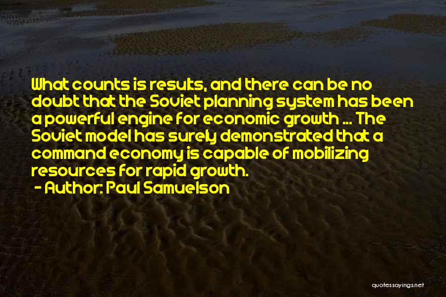 Command Economic System Quotes By Paul Samuelson