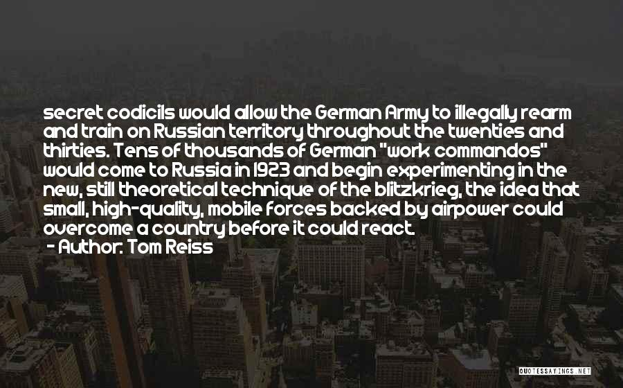 Commandos German Quotes By Tom Reiss