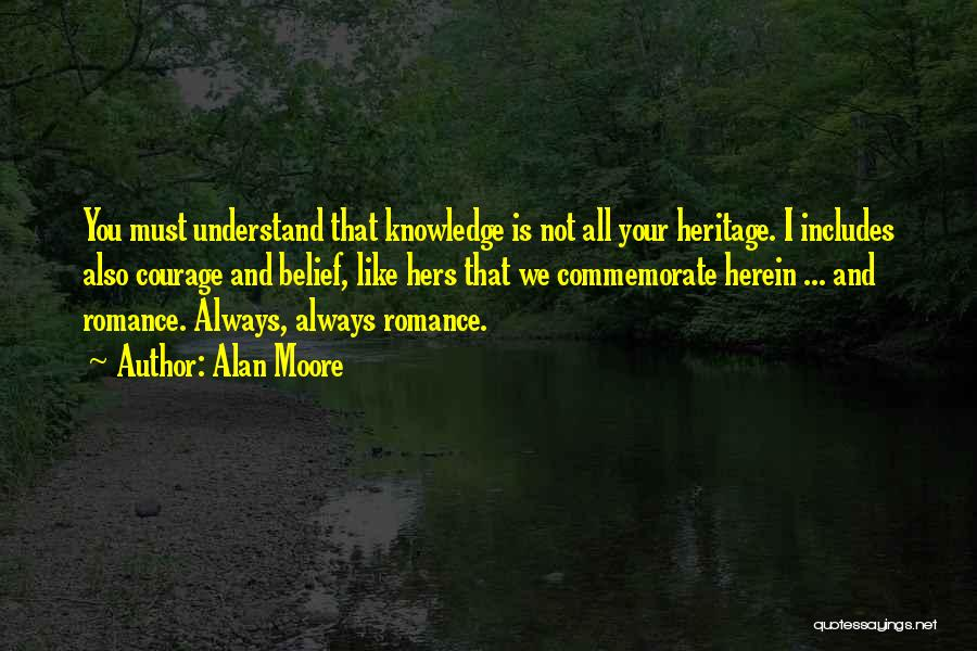 Commemorate Quotes By Alan Moore