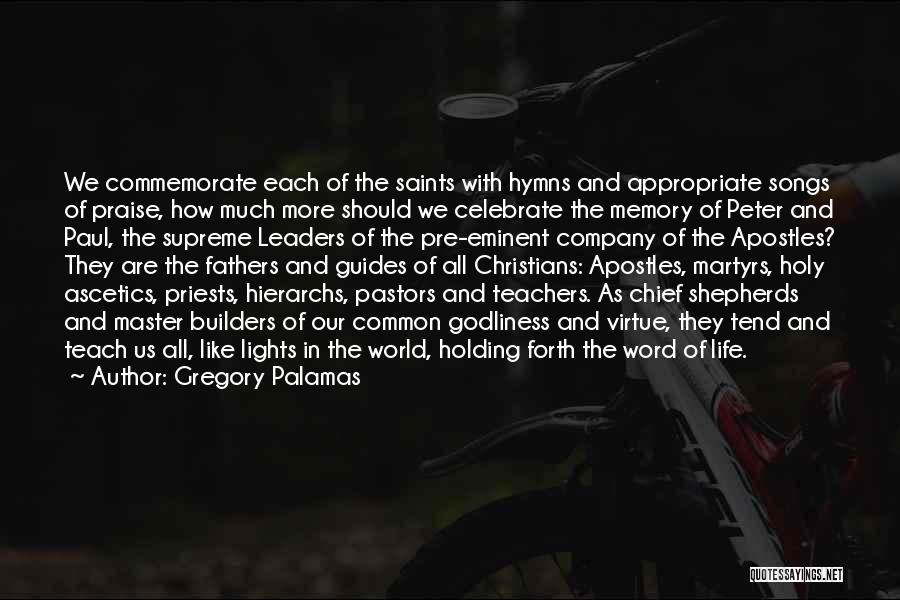 Commemorate Quotes By Gregory Palamas