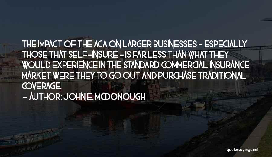Commercial Insurance Quotes By John E. McDonough