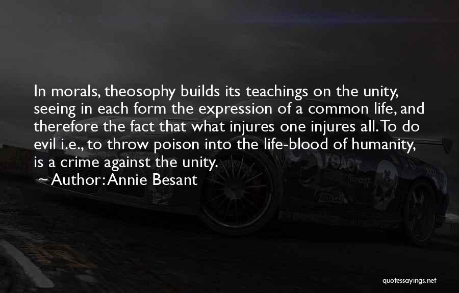 Common Humanity Quotes By Annie Besant