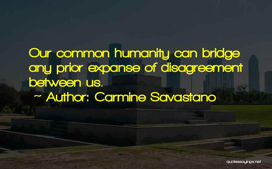 Common Humanity Quotes By Carmine Savastano