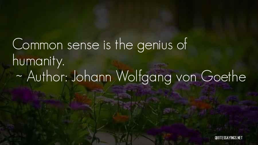 Common Humanity Quotes By Johann Wolfgang Von Goethe