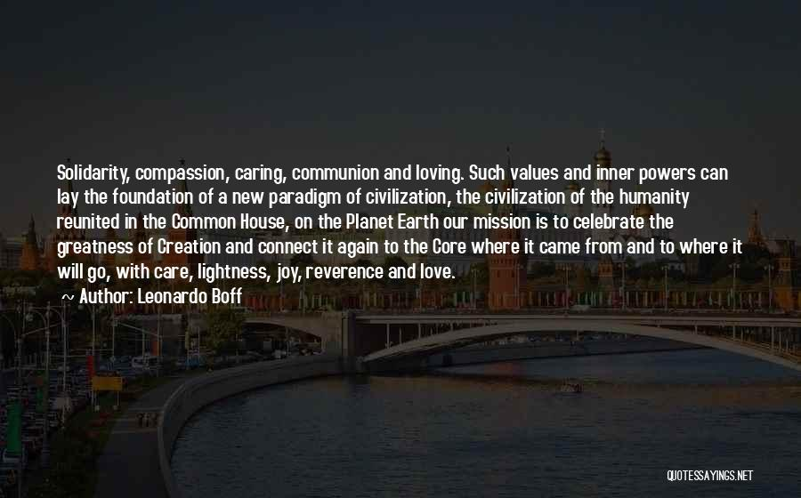 Common Humanity Quotes By Leonardo Boff