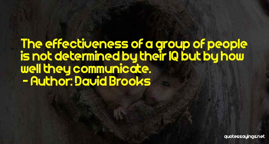 Communicate Well Quotes By David Brooks
