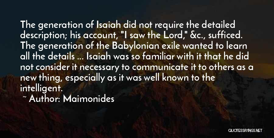 Communicate Well Quotes By Maimonides