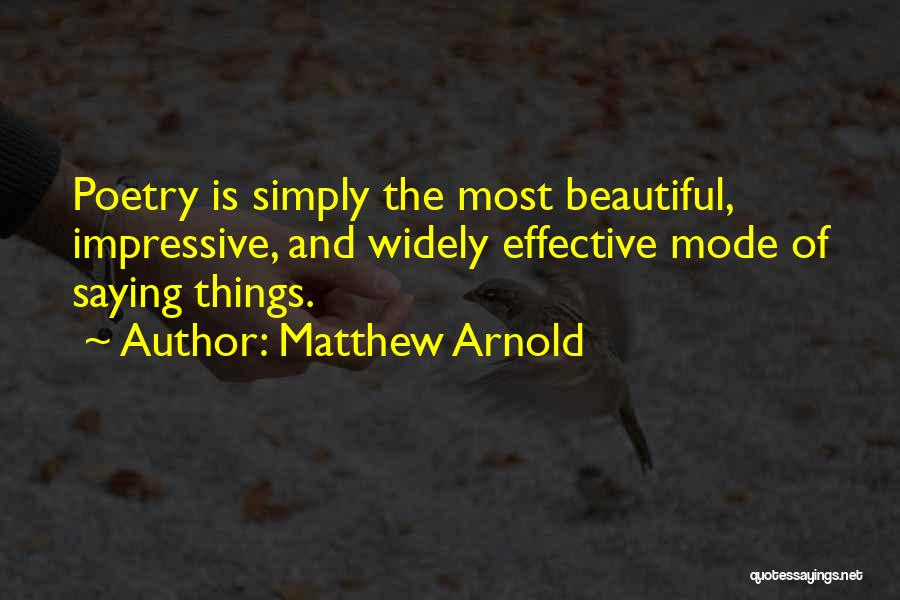 Communication Poetry Quotes By Matthew Arnold