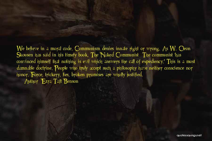 Communist Quotes By Ezra Taft Benson