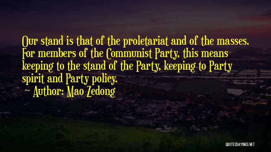 Communist Quotes By Mao Zedong